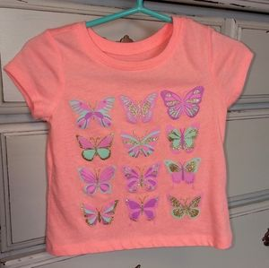 Children's Place tiled bright butterfly shirt